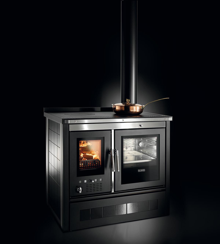 Cucina a legna modello Vesta Maiolica