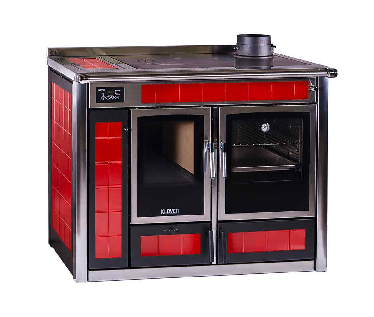 Termostufa cucina a legna ALTEA 110 - 34,9 KW - Klover Srl (Italia)